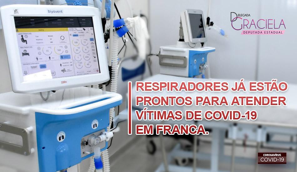 Respiradores já estão prontos para atender vítimas de Covid-19 em Franca.